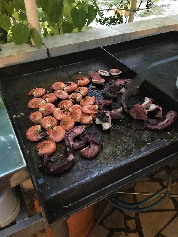 Морепродукты в Хорватии на гриле
