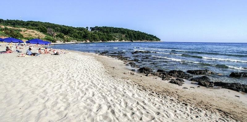 Остров Корчула город Лумбарда Пляж Vela Przina