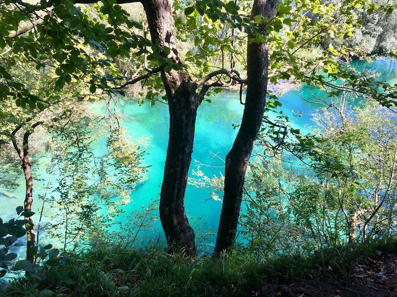 бирюзовый цвет воды в Парке