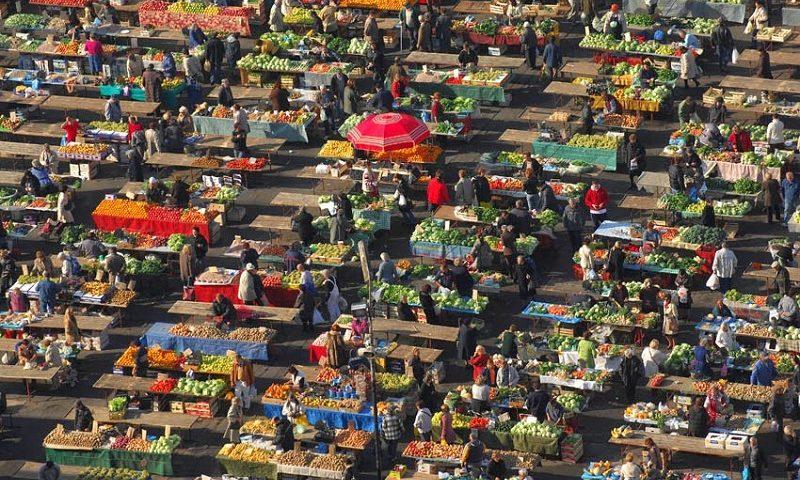 фермерский рынок долац в загребе
