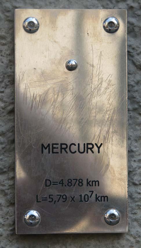 меркурий в загребе модель солнечной системы