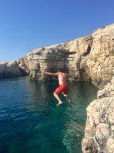 клифдайвинг и пещера в каменяк хорватия