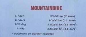 Цены на прокат велосипедов в хорватии