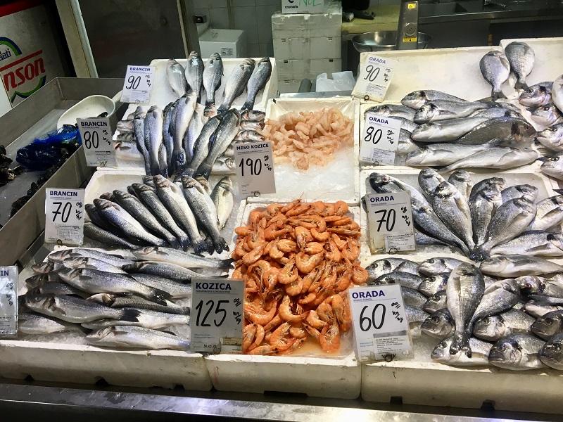 рыбный рынок в дубровнике