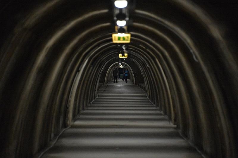 Тоннель Грич достопримечательность загреба